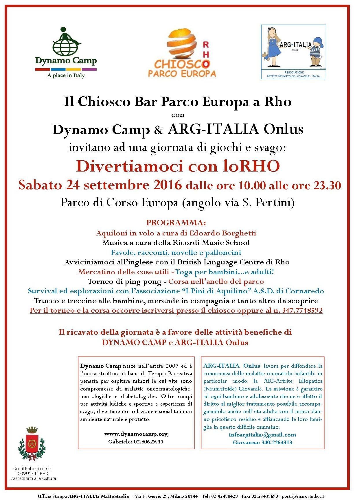 ARG-Italia ONLUS | Divertiamoci con loRho