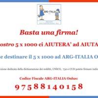 5x1000 Ad ARG-ITALIA Onlus
